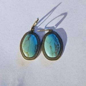 Lia Sophia turquoise Aztec reversible earrings